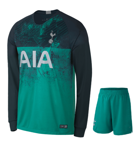 Original Tottenham 3rd Full Sleeves Premium Jersey & Shorts [Optional] 2018-19