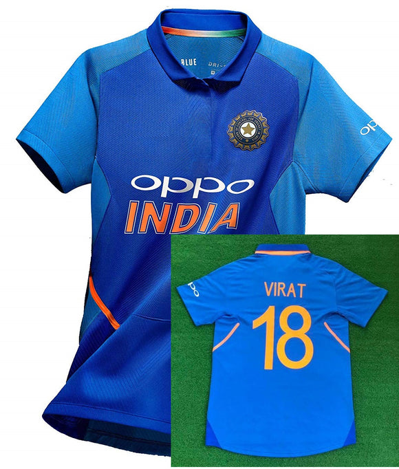 Boys Original VIRAT KOHLI India International Cricket Jersey World Cup 2019 [Original Piece]