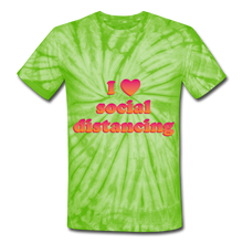 Load image into Gallery viewer, Unisex Tie Dye T-Shirt - spider lime green