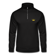 Load image into Gallery viewer, Men's Quarter Zip Pullover - black