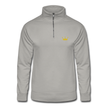 Load image into Gallery viewer, Men's Quarter Zip Pullover - light gray