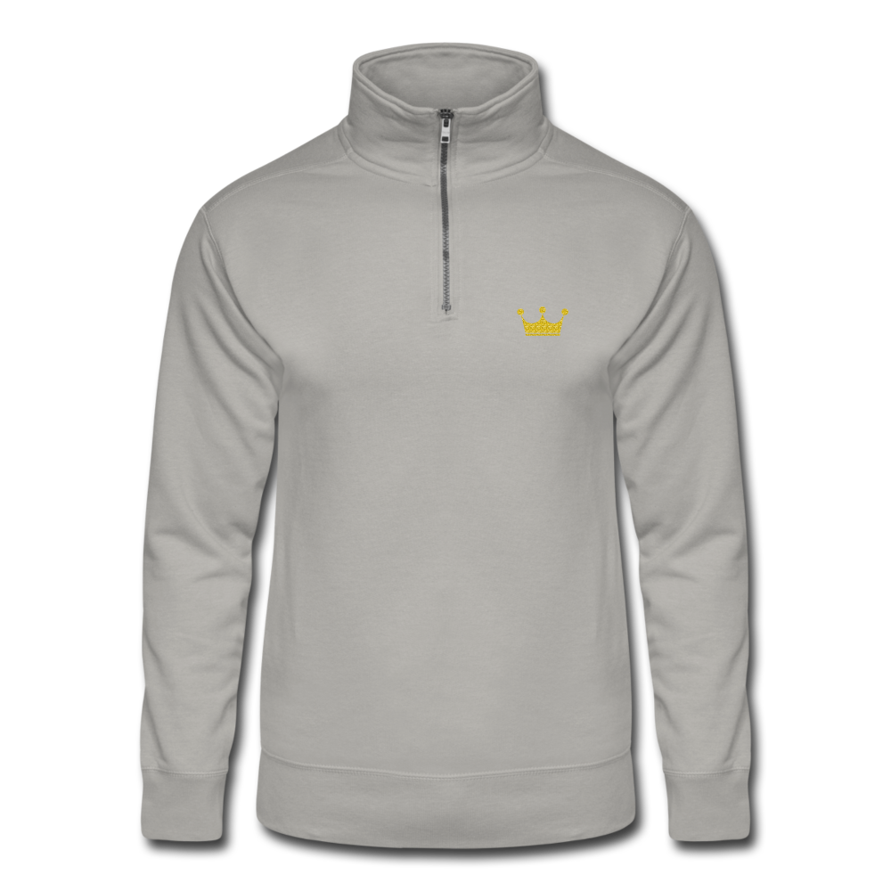 Men's Quarter Zip Pullover - light gray