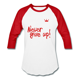 Women Half-Sleeve T-Shirt - white/red