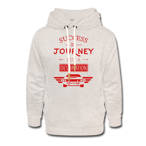 Shawl Collar Journey Hoodie - heather oatmeal