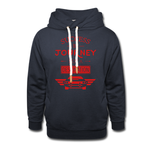 Shawl Collar Journey Hoodie - navy