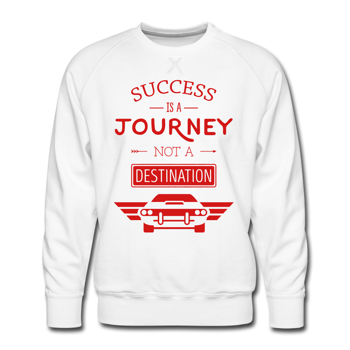 SUCCESS IS A JOURNEY - white