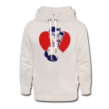 Load image into Gallery viewer, Pin Up Hoodie - heather oatmeal