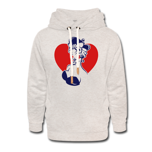 Pin Up Hoodie - heather oatmeal