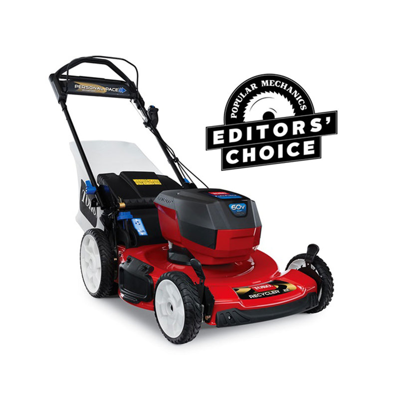 "TORO | 22"" (56cm) 60V MAX* Electric Battery SMARTSTOW® Personal Pace® High Wheel Mower (20363)"