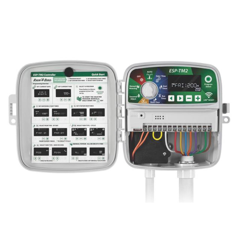 Rainbird | ESP-TM2 - 12 Station Indoor/Outdoor 120V Irrigation Controller (LNK WiFi-compatible)
