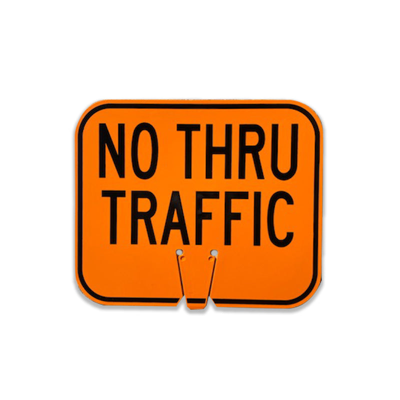 "No Thru Traffic Sign | 12 3/4"" W x 10 1/2"" L"