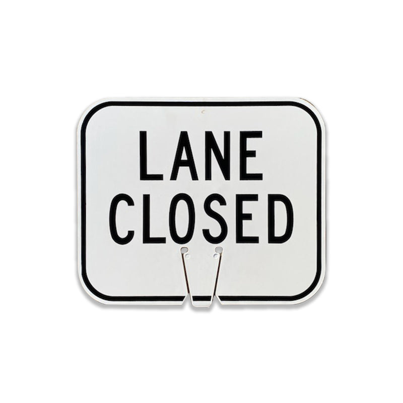 "Lane Closed  | 12 3/4"" W x 10 1/2"" L"
