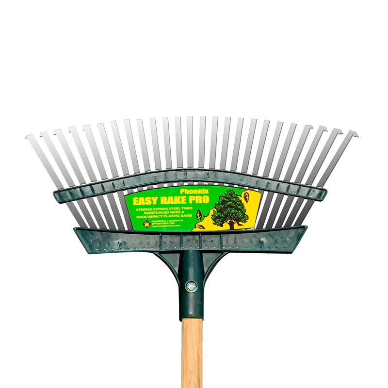 "Phoenix | 16"" Easy Rake Pro w/ 48"" Wood Handle"