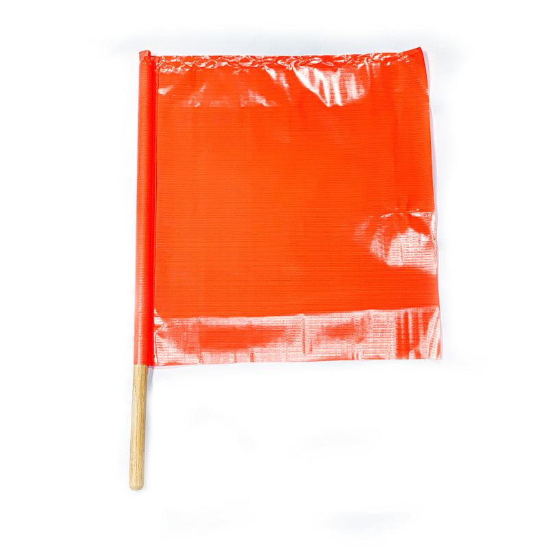 "Neon Orange Safety Flag 24"" x 24"" x 36"""