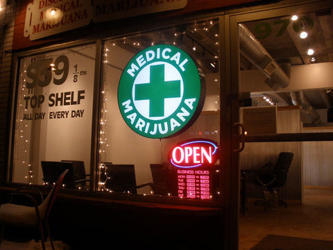 Patent 6630507- A picture of a Medical Cannabis Dispensary storefront