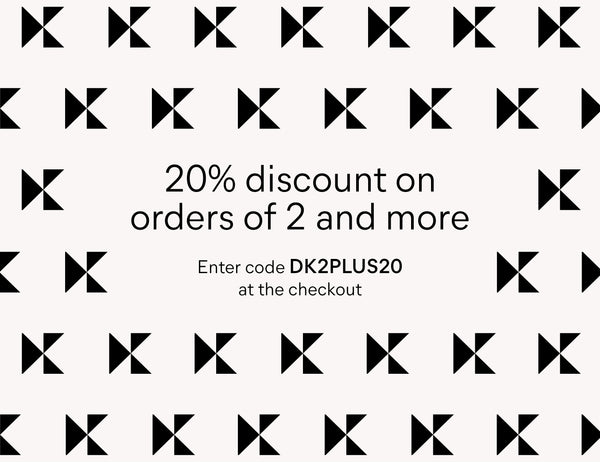 20% discount on orders of 2 and more. Enter code DK2PLUS20 at the checkout