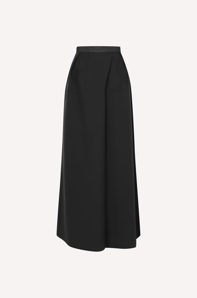 Gathered Waist Maxi Skirt
