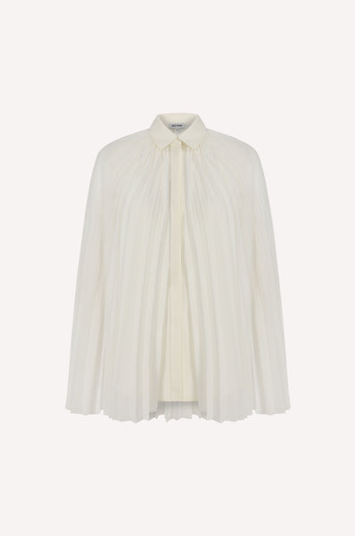 Pleated Cape Shirt