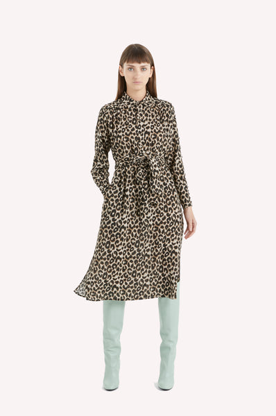 Leopard Belted Shirt Dress