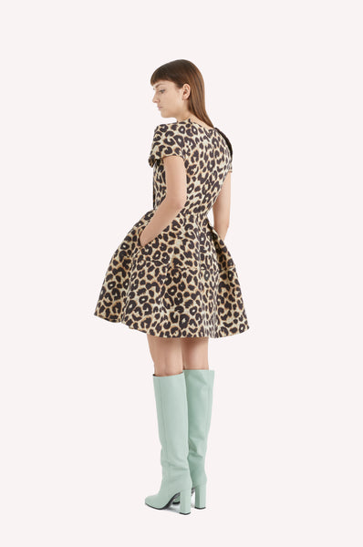 Leopard Architectural Dress