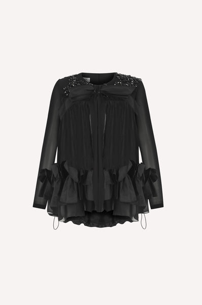 Crystal Baby-Doll Evening Blouse