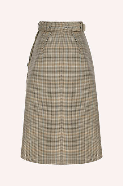 Prince de Galles Trench Skirt