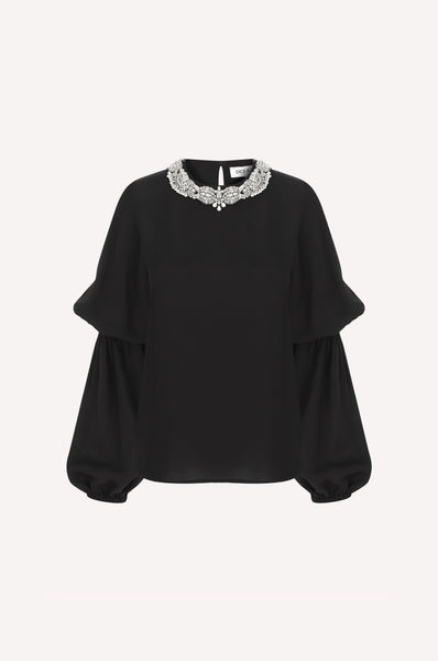 Trompe-L'oeil Necklace Top