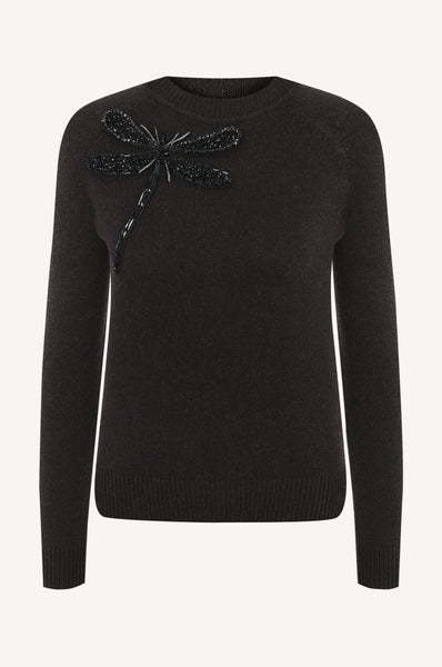 Crystal Dragonfly Crewneck
