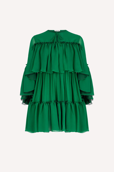Layered Ruffles Mini Dress