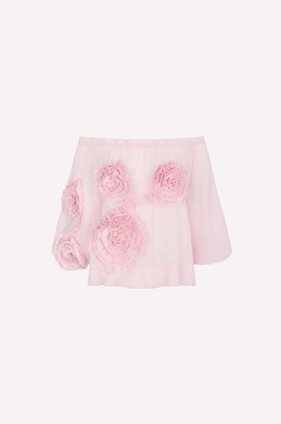 Ruched Flower Top