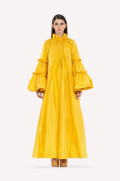 Ruffled Bell Sleeve Maxi Dress