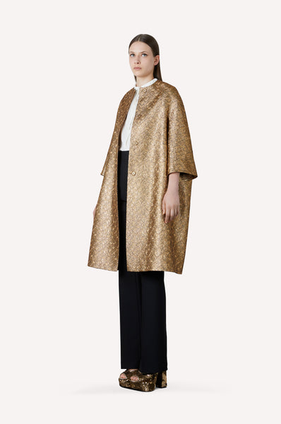 Gold Brocart Evening Coat
