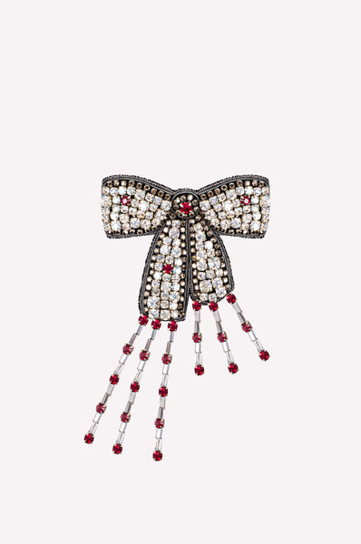 Fringed Bow Brooch
