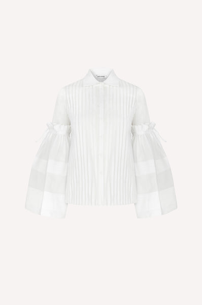 Bell Sleeve Organdy Shirt
