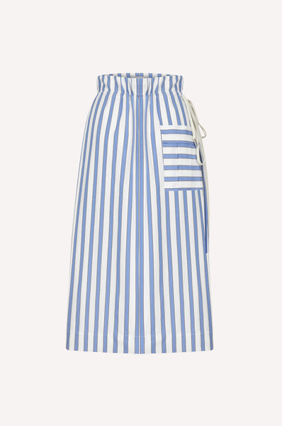 Drawstring Pleated Skirt