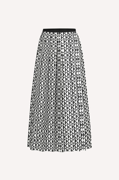 Monogram Pleated Skirt
