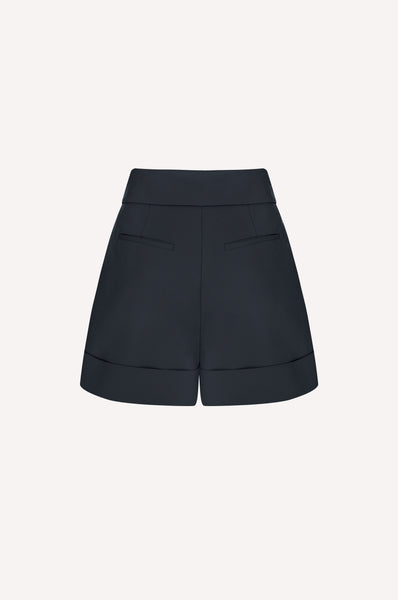Folded Waist Pleated Shorts