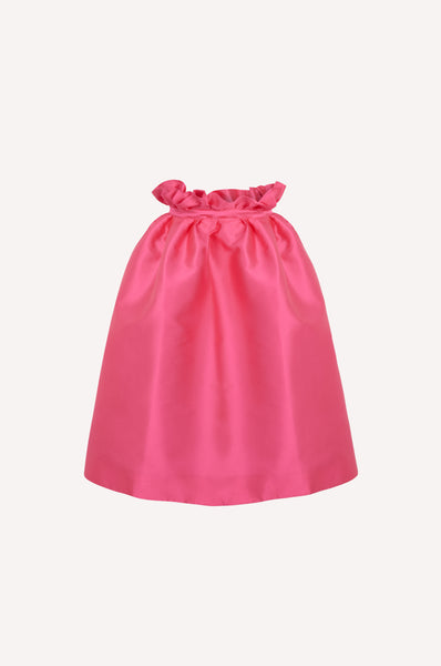 Ruffled Waist Bell Skirt