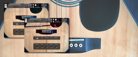 Extended Guitar Bundle - Kontakt Guitar libraries - Bowed Guitar and Guitarmonics user interface
