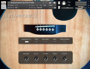 Guitarmonics by Edu Prado - user interface