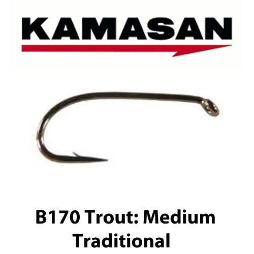 B170 MEDIUM TRADITIONAL TROUT HOOKS