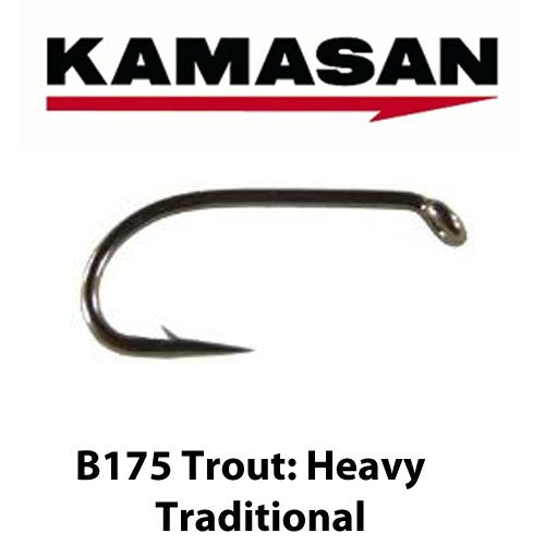 B175 HEAVY TRADITIONAL TROUT HOOKS