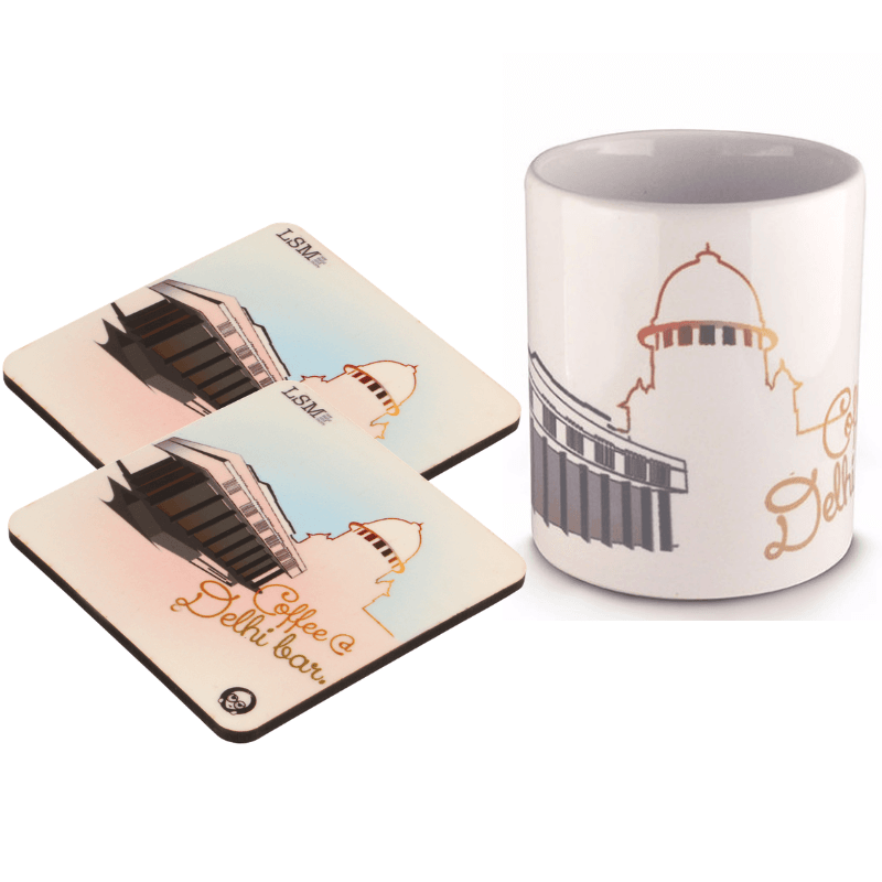 Combo Of Coffee Del Bar Mug & 2 Coasters