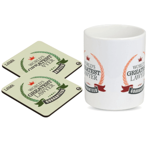 Combo Of World Greatest Lawyer Mug & 2 Coasters