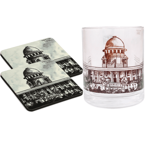 Combo Of Supreme Court Mug & 2 Coasters - B/W