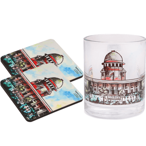 Combo Of Supreme Court Mug & 2 Coasters - Coloured