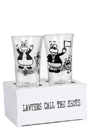 The Pickles & Lota Lawyers Call The Shots - A - Shot Glasses - Set of 2
