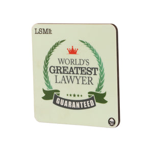 Coasters - World`s Greatest Lawyer - Set of 4