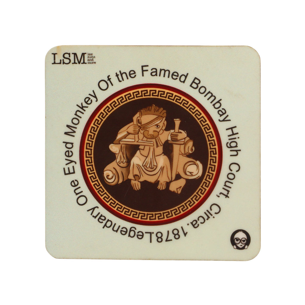 Coasters - Bombay High Court Monkey - Set of 4