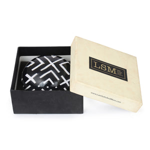 Black & White Geometric paperweight in Gift Box